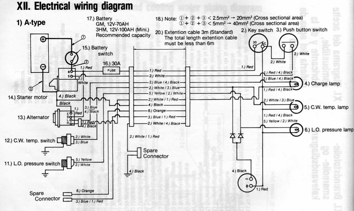 Yanmar 1 Gm Wiring Diagram Libraries Hitachi Alternator As Well Electrical The Portal And Forum Of U2022yanmar Schematic