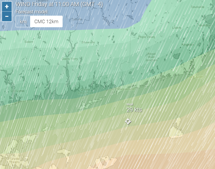 Wind forecast  tides   weather radar Noank  United States   Windria.png