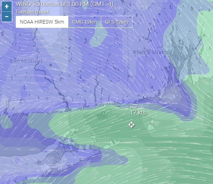 Wind forecast  tides   weather radar Groton Long Point  United States   Windria.png