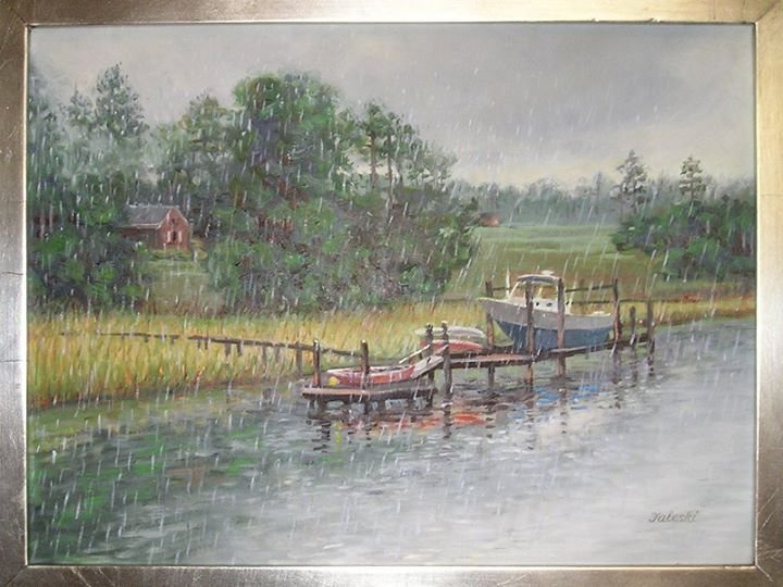 oil painting of pier with steiger craft.jpg